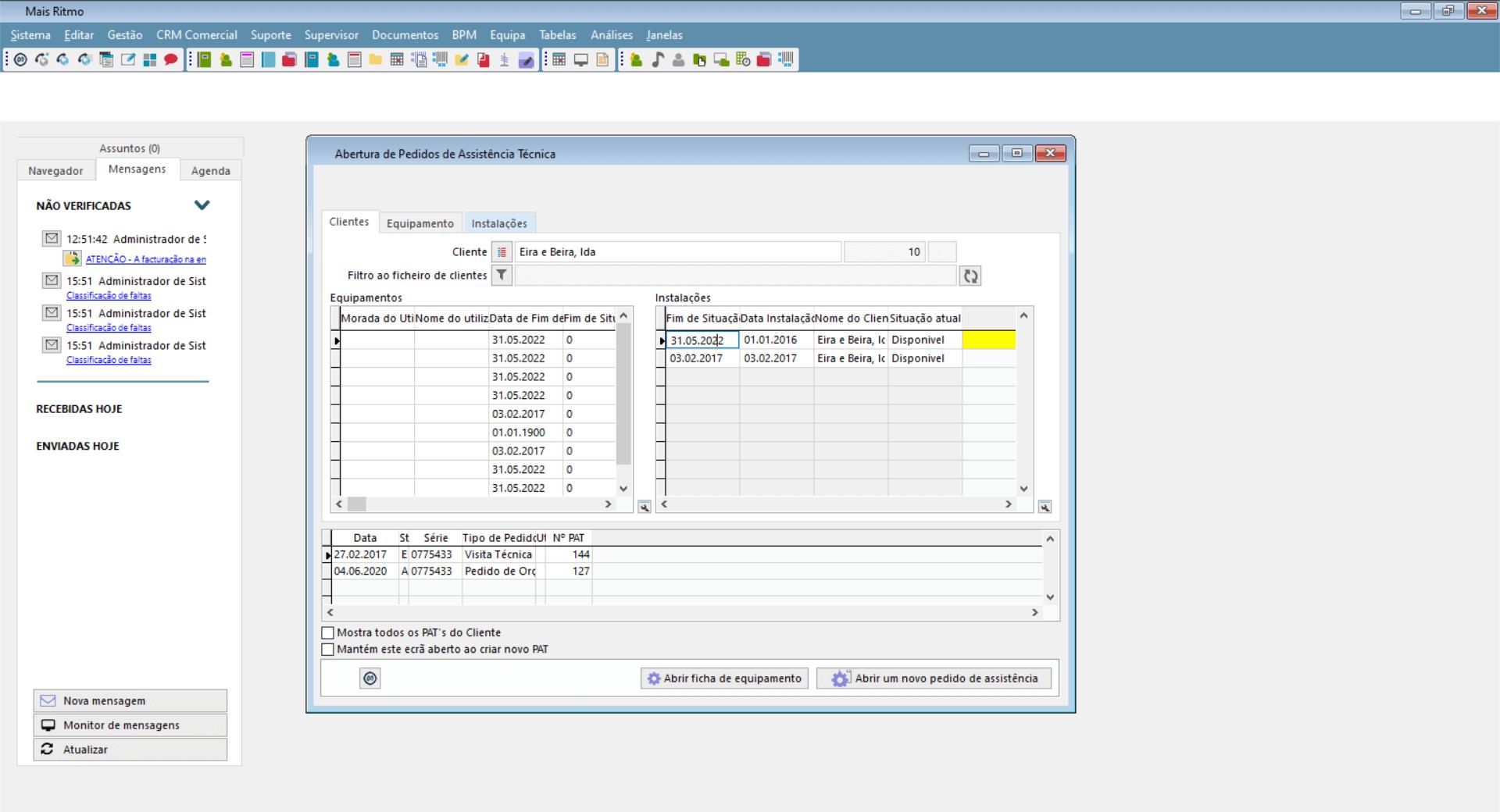software de suporte tecnico phc
