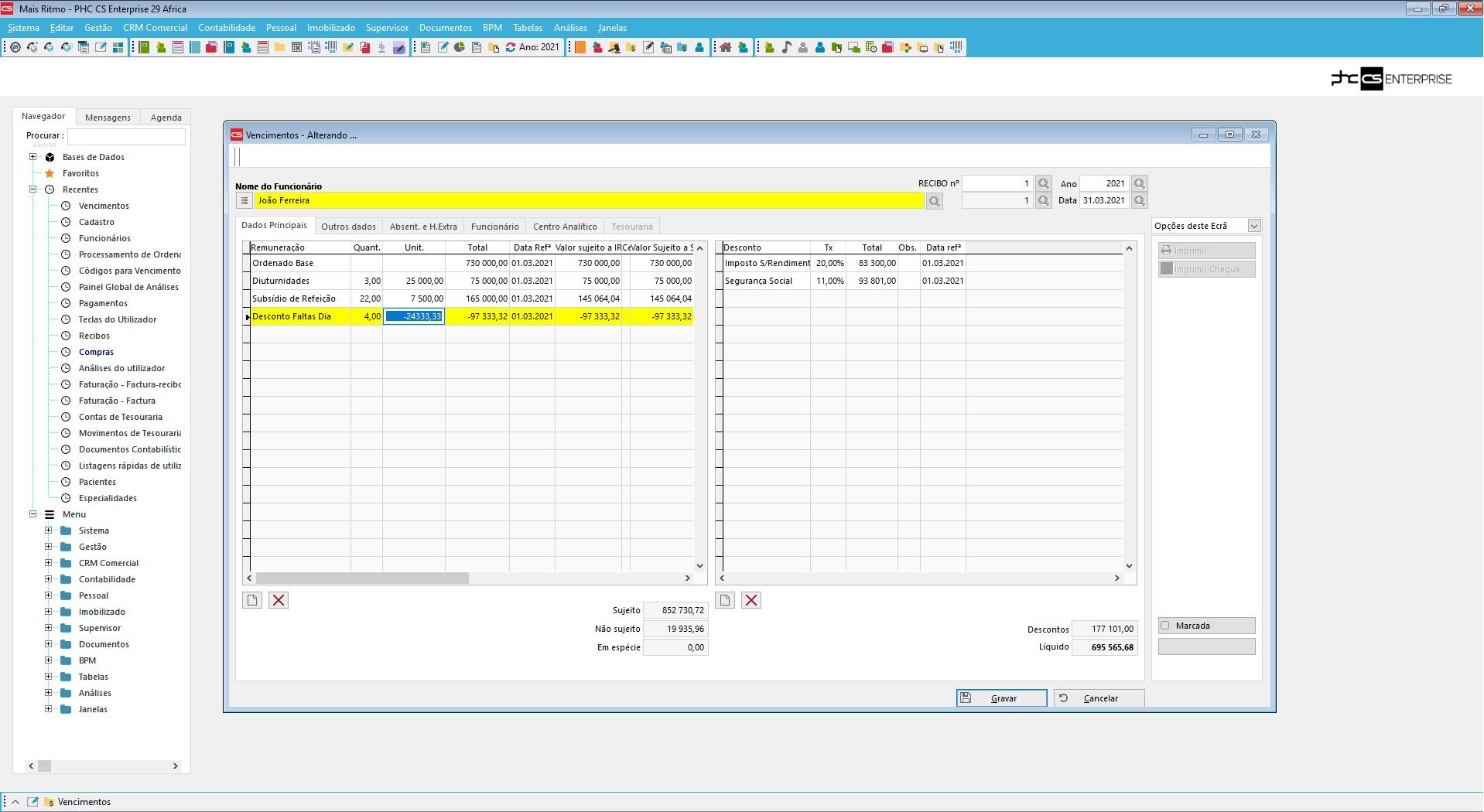 dashboard de gestão de vencimentos