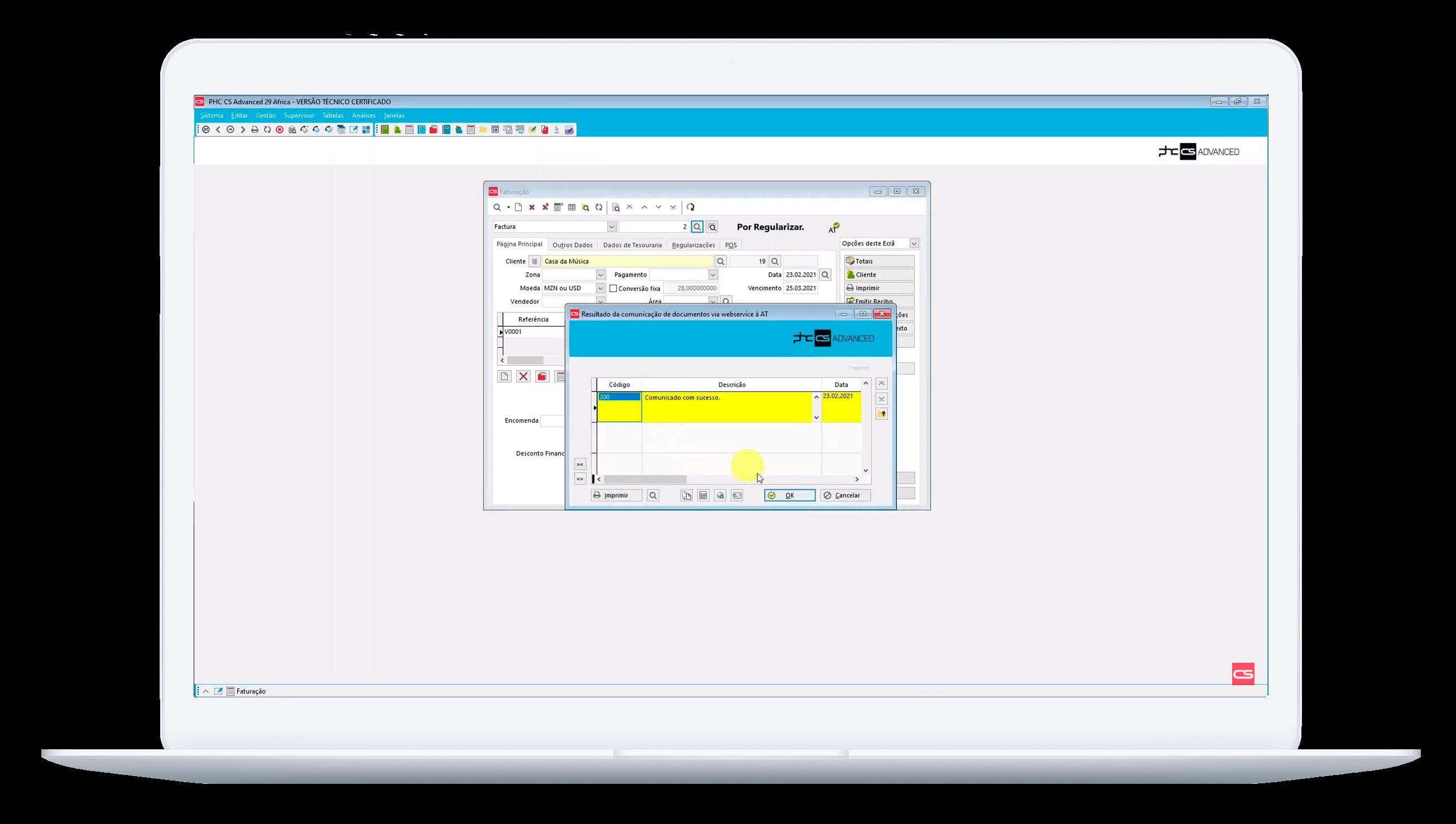 Monitor de comunicação de documentos